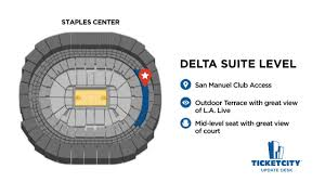 Staples Center Seat Recommendations The Ticketcity Update Desk