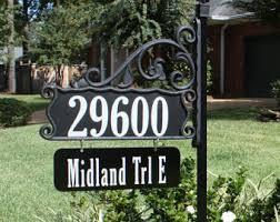 Decorative Yard Signs Park Ave Yard Sign 100 With Flag Holder Flag Holder Address 16