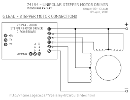 unipolar stepper motor driver connecting a 6 lead motor to the stepper driver