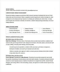 Resume For Managerial Position Bank Branch Manager Resume Resume For Manager Position