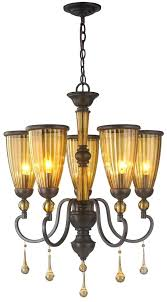 oil rubbed bronze chandelier with shades chandelier antique stained tea glass warm lounge light shades crystal