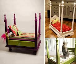 diy royal pet bed from end table nightstand