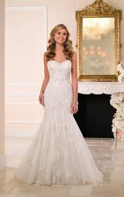 sexy fit and flare wedding dress stella york wedding gowns