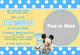 First Birthday Invitations Free Printable Free Printable Baby Mickey Mouse 1st Birthday Invitations