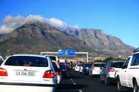 Image result for images of people stuck on traffic in cape town