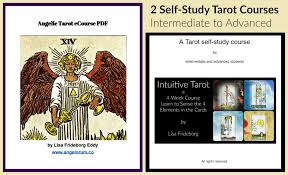 angelic tarot is a 6 week self study course and intuitive tarot is a 4 week self study course these two courses are ideal for the interate tarot