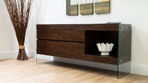 aria glass and espresso dark wood sideboard