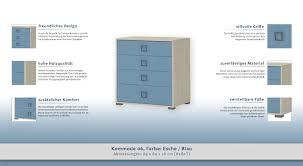 Kommode 06 Farbe Esche Blau Abmessungen 89 X 84 X 56 Cm H X B X T