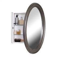 Oval Mirror Medicine Cabinet Amazoncom Zenith Pmv2532bb Oval Mirror Medicine Cabinet