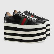 gucci shoes. gucci leather platform sneaker detail 2 shoes