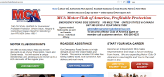motor club of america homepage screenshot