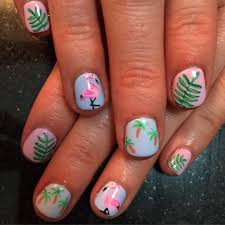 palm tree nail paint art