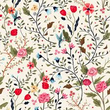Floral Pattern Enchanting Colorful Adorable Seamless Floral Pattern Over Beige Background
