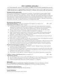 Clinical Research Coordinator Resume Sample Research Skills Resume How To Make Clinical Research Coordinator 23