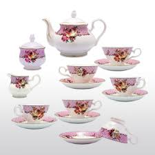 Decorative Cups And Saucers Set of 100 Bone China Cups and Saucers with Assorted Designs Four 72