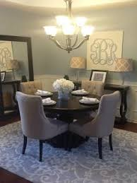 small dining room.  Dining Gotta Love A Little Bling Home Tour Blue And Tan Dining Room On Small L