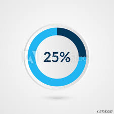 50 Percent Pie Chart 50 Percent Blue Grey And White Pie Chart Percentage Vector