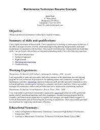 Maintenance Man Resume Free Resume Example And Writing Download