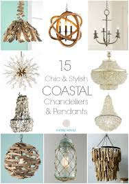 chic coastal chandeliers and pendants