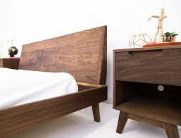 mid century modern king bed. Delighful King Buy A Custom The Bosco  Mid Century Modern Solid Walnut Bed Made To Order  From Moderncre8ve  CustomMadecom For King Bed Y
