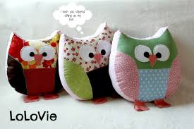 Owl Pillow Pattern Lolovie June 2013