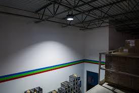 150 watt high power led high bay light fixture high bay on installed on warehouse ceiling