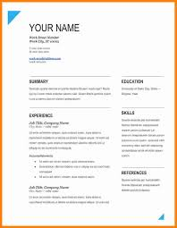 Free Word Resume Templates New Modern Resumes Cl69 Sample Download