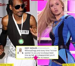 without makeup 11 insram iggy azalea 24 is firing back at snoop dogg 42 after he