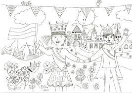 Koningsdag Kleurplaat Droomvallei Uitgeverij
