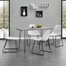 Details Zu Encasa Esstisch 120x60cm Hairpinlegs Mit 4 Stühlen Weiß Kunststoff Tisch