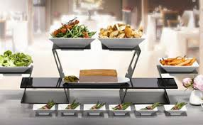 Catering Display Stands Shop Display Stands and Risers TriMark RW Smith Co your 1