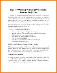 9 How To Write An Objective On A Resume Riobrazil Blog Basic