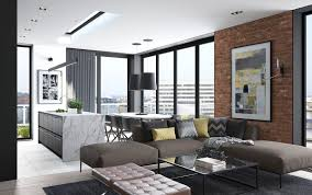 Small Picture Design a Chic Modern Space Around a Brick Accent Wall