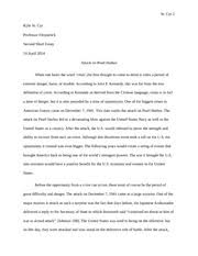 pearl harbor study resources 4 pages attack on pearl harbor essay
