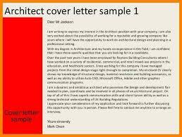 architect cover letter samples architect cover letter sample livecareer