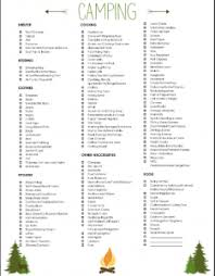 Family Camping Packing List - Free Printable Camping Checklist