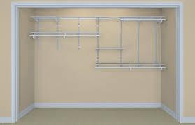 7 ft 10 shelftrack organizer kit closetmaid 7 10 ft closet