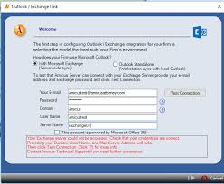 login outlook 365 test connection fails when configuring email integration amicus