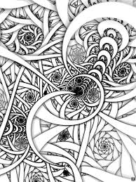 Small Picture Fractal Coloring Pages Bestofcoloringcom