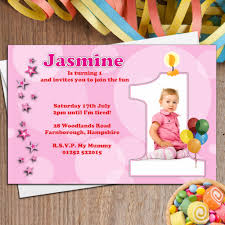 personalised s first st birthday party photo invitations n p nice printed birthday invitations