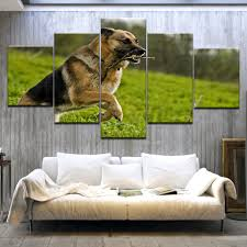 German Shepherd <b>5 panel HD Print</b> dog animal Poster modern ...