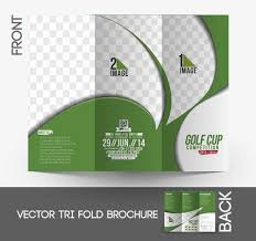 Golf Tournament Tri-Fold Mock Up & Brochure Design Royalty Free ...