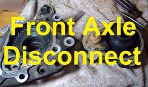 How To Remove The Front Axle Disconnect on a Trailblazer/Rainier ...