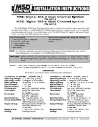 msd 7al 2 wiring diagram msd image wiring diagram 10 installation instructi on msd 7al 2 wiring diagram