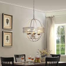 victoria silver distressed orb chandelier