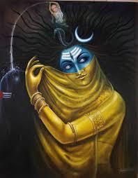 creation and destruction of lord shiva ardhanareshwar painting by avinash thakur saatchi art
