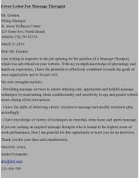 Gallery Of Massage Therapist Cover Letter