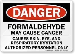 Image result for formaldehyde warning label