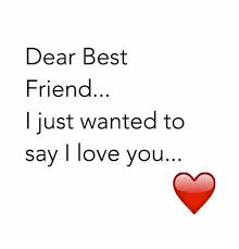 I Love You Best Friend