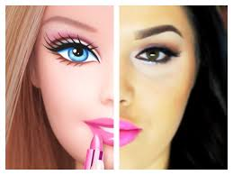 a detailed makeup tutorial showing you how to look like barbie